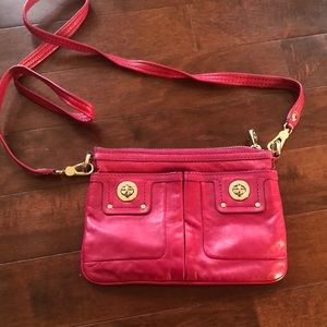 Marc By Marc Jacobs pink leather crossbody